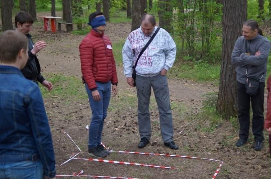 тимбилдинг веревочный курс